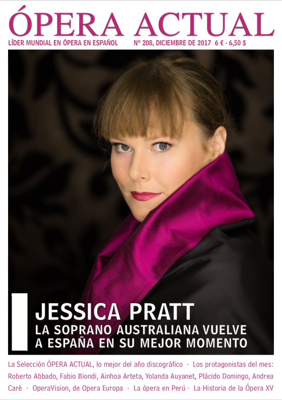 Jessica Pratt featured on Ópera Actual<br/>Jessica Pratt: The Australian soprano returns to Spain at her best