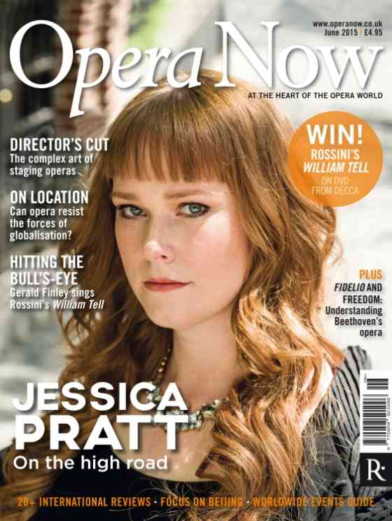 Jessica Pratt featured in Opera Now: Opera Now: Cover Page
